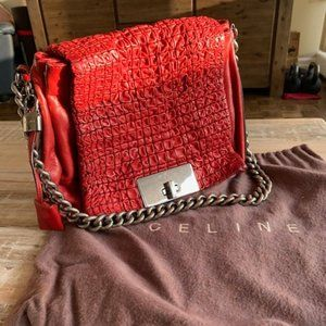 Celine Quilted Leather Chain Strap Handbag on Sale